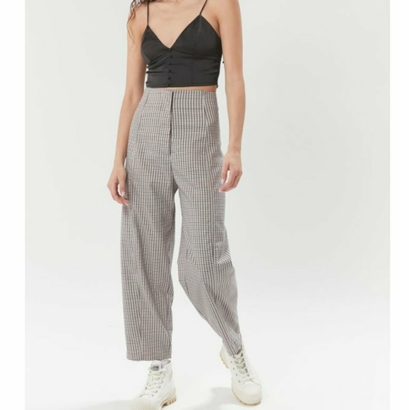 Urban Outfitters Checkered Trousera
